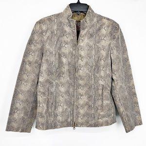 Brandon Thomas Snakeskin Leather Moto Jacket Sz L